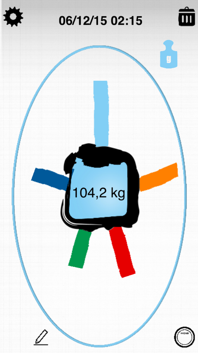 Scale main screen in fitmefit move app