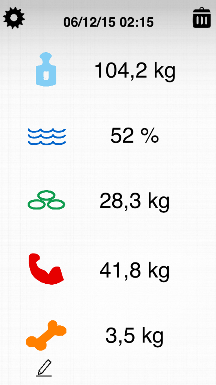 Scale List screen fitmefit move app